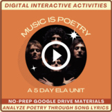 Music is Poetry: A 5 Day Unit | High-Interest Poetry Analy