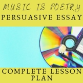 Music is Poetry Persuasive Essay Project