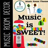Music is SWEET! Music Room Theme - Theme BUNDLE, Rhythm and Glues