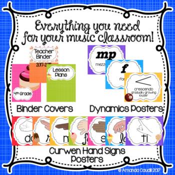 Music is Sweet! Classroom Decor Set