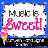 Music is Sweet! Curwen/Solfege Hand Signs Posters