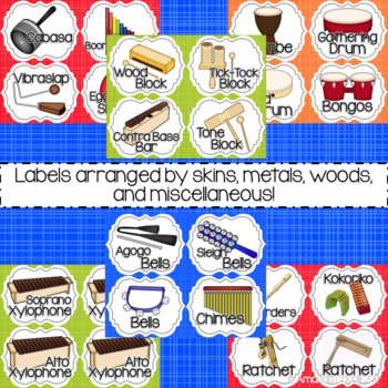 Music is Sweet! Instrument Labels
