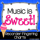 Music is Sweet! Recorder Fingering Charts