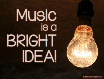 Music is a Bright Idea: Music Advocacy Bulletin Board Set