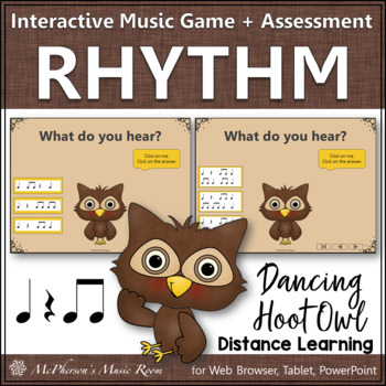 Music Game: Eighth Notes Interactive Rhythm Game & Assessment {Hoot}