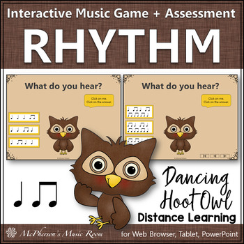 Music is a Hoot! Interactive Rhythm Game + Assessment {Eighth Note/Quarter Note}
