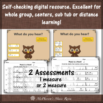 Music is a Hoot! Interactive Rhythm Game + Assessment {Half Notes}