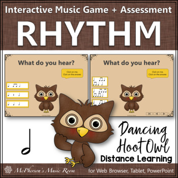 Music Game: Half Notes Interactive Rhythm Game & Assessment {Hoot}
