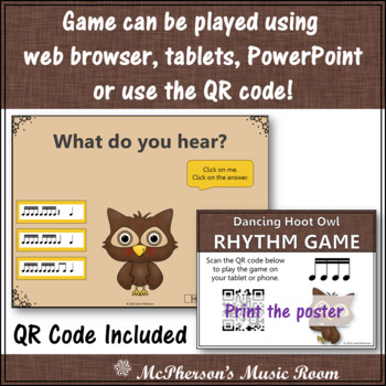 Music is a Hoot! Interactive Rhythm Game + Assessment {Sixteenth Notes}