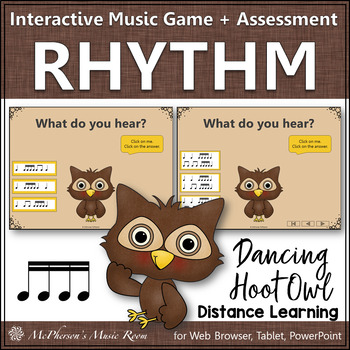 Music Game: Sixteenth Notes Interactive Rhythm Game & Assessment {Hoot}