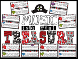 Music is a Real Treasure Pirate Themed Bulletin Board