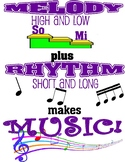 Music is melody and rhythm poster
