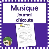 Music journal (journal d'écoute) French