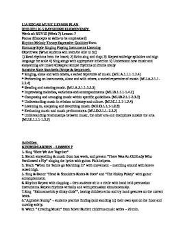 Music k-5 Lesson Plans Week #7