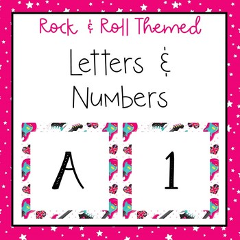 Music letters and numbers for bulletin board, calendars, & class management