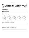 Music listening actvity