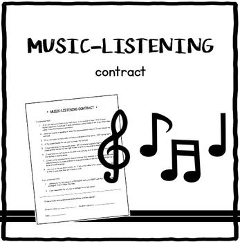 Music-listening contract