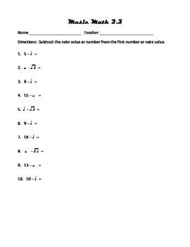 Music math