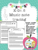 Music note tracing