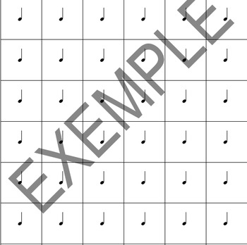 Music notes and rests cards