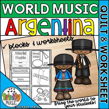 Music of Argentina Quilt & Worksheet (World Music)