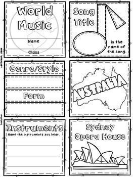 Music of Australia Quilt & Worksheet (World Music)