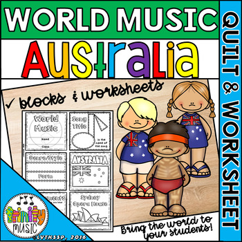 Music of Australia Quilt & Worksheet (World Music)