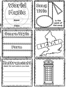 Music of England Quilt & Worksheet (World Music)
