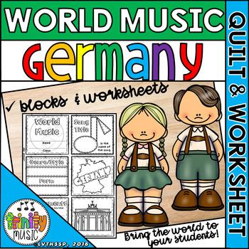Music of Germany Quilt & Worksheet (World Music)