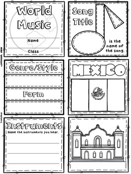 Music of Mexico Quilt & Worksheet (World Music)
