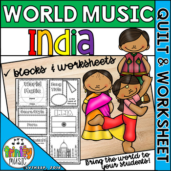 Music of India Quilt & Worksheet (World Music)