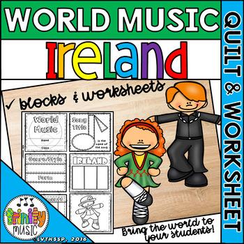 Music of Ireland Quilt & Worksheet (World Music)