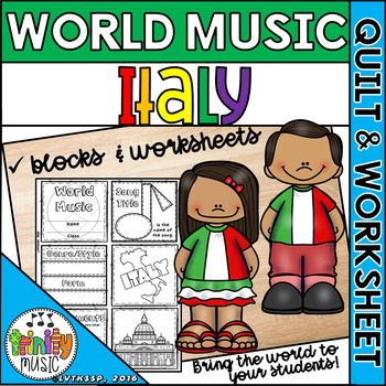 Music of Italy Quilt & Worksheet (World Music)