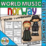 Music of Norway Quilt & Worksheet (World Music)