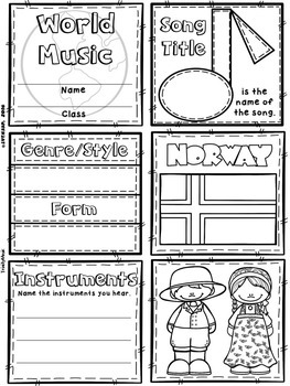 Music of Norway Quilt & Worksheet (World Music)