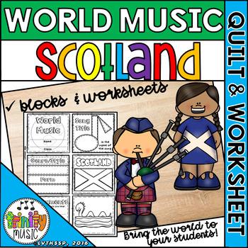 Music of Scotland Quilt & Worksheet (World Music)
