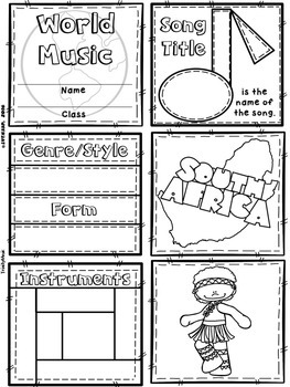 Music of South Africa Quilt & Worksheet (World Music)