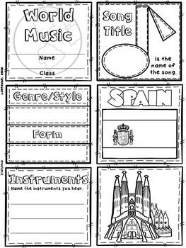 Music of Spain Quilt & Worksheet (World Music)