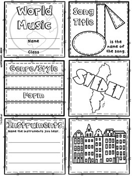 Music of Sweden Quilt & Worksheet (World Music)