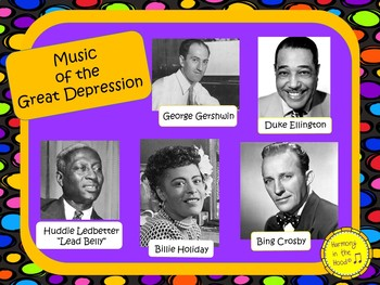Music of the Great Depression: Musician in the Spotlight