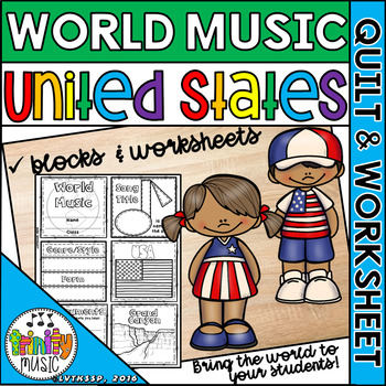 Music of the United States Quilt & Worksheet (World Music)