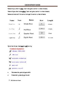 Music or Choir Study Guide