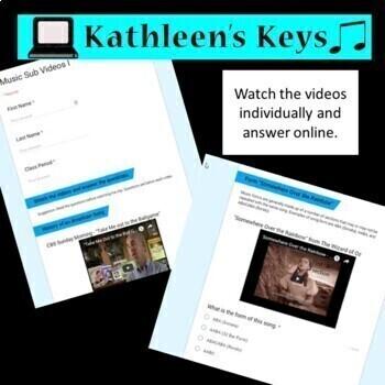 No Prep - Music or Choir Sub Plan - High School or Middle