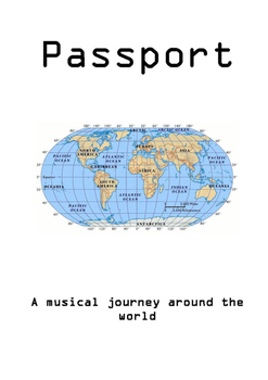 Music passport booklet- a musical journey around the world