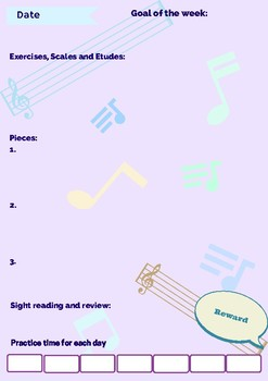 Music practice journal