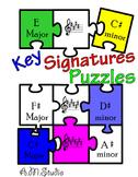 Music puzzles (Key Signatures)
