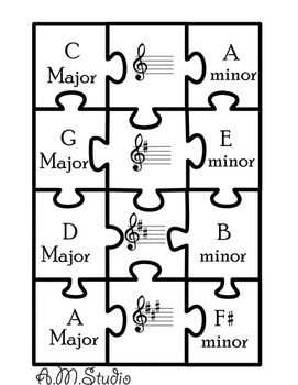 Music puzzles (Key Signatures)