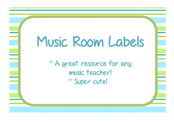 Music room labels