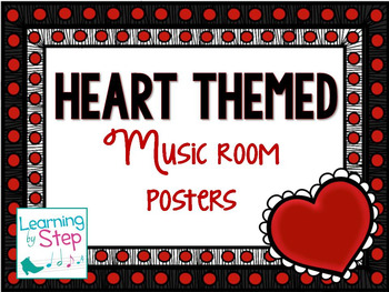 Music  room poster set {heart themed}