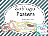 Music room solfege posters- fall stripes